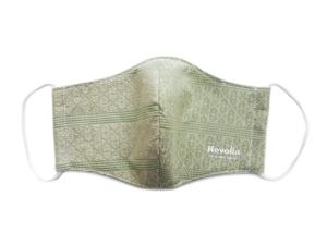 牧之原産織物/日本製 緑茶染め織物 洗える立体マスク 大きめ/小さめ